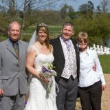 The eyecacha team, David & Valerie Tovey in front of the camera for a change. With a wedding couple.