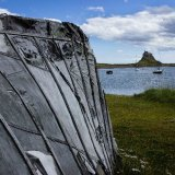 Boat Shed and Castle, Lindisfarne