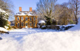 Cranfield House in the snow