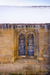 The Great Hall under snow and ice