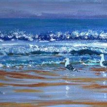 Seagulls Surfing