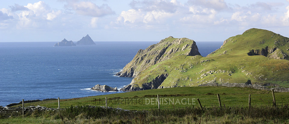Puffin Island and the Skelligs from the Iveragh Peninsula, Co. Kerry, Oct '14
