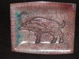 Wild Boar Plate - Raku