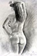 Original Life Drawing : rear view