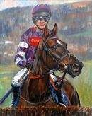"Denman and Ruby WalshDavid Dent ltd giclee21""x14""  £69"