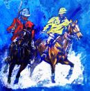 Panel #1 of polo triptych D.M.Dent 260mmx260mm  £49