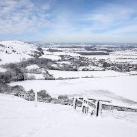 Devils Dyke Snow Fall