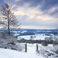 Newlands Corner Snow
