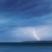 St Michael's Mount Lightning Storm