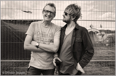 Bruce Watson (Big Country) with son Jamie @Rewind Festival