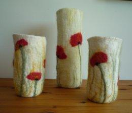 Poppy vases