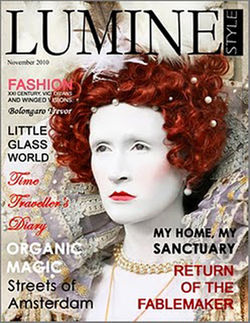 My 1st front cover publication Queen Elizabeth shoot featured in Luminstyle Magazine