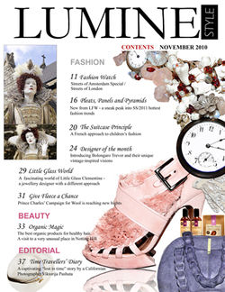 Inside cover feature for Luminstyle Magazine  this edition featured London Fashion Week