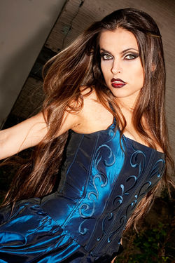 SMOKEY EYES AND A SATIN BLUE DRESS