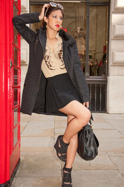 Kamara Jewellery Promotional Look book shoot around London Town