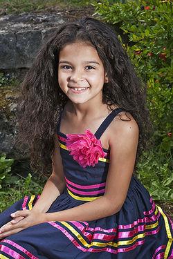 Iyonie in her Stripey Dress