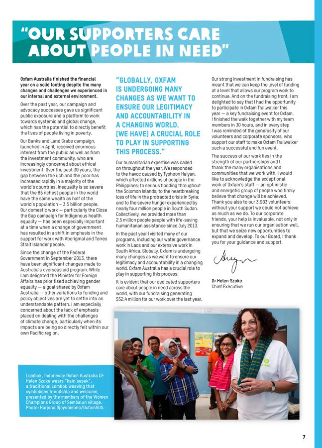 Oxfam Australia Annual Report 2014