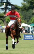 Prince William competes in the Rundle Cup polo match 2006.