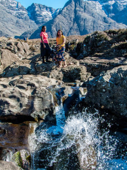 A couple of nice ladies at the Fairy Pools