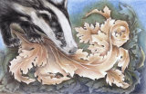 Badger of the Arts and Crafts - £POA - pure colour pencil