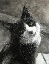 Innocent Eyes - £325 - mixed media on canvas