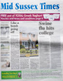 9.7.09 Mid Sussex Times Front Page