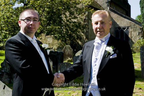 GROOM AND FATHER BEFORE SERVICE