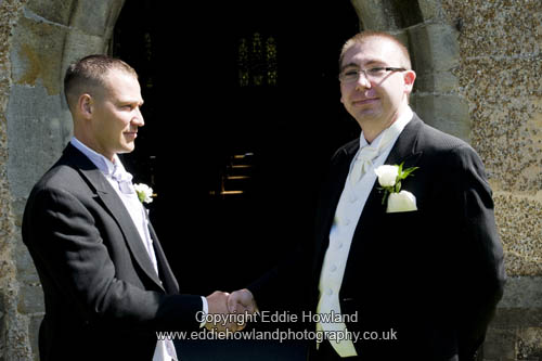 GROOM AND BEST MAN BEFORE SERVICE