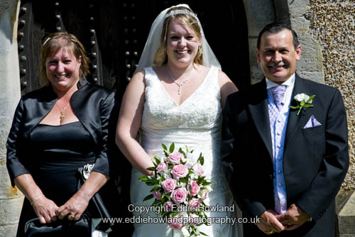 BRIDE AND MOTHER AND FATHER ADFTER SERVICE