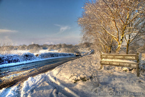 Sunrise at Ditchling Common in the Snow Dec 09