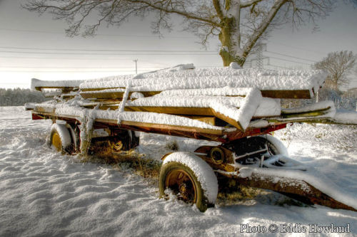 Old Cart in the Snow Dec 09