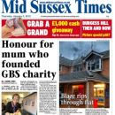 Mid Sussex Times front page (Fire)