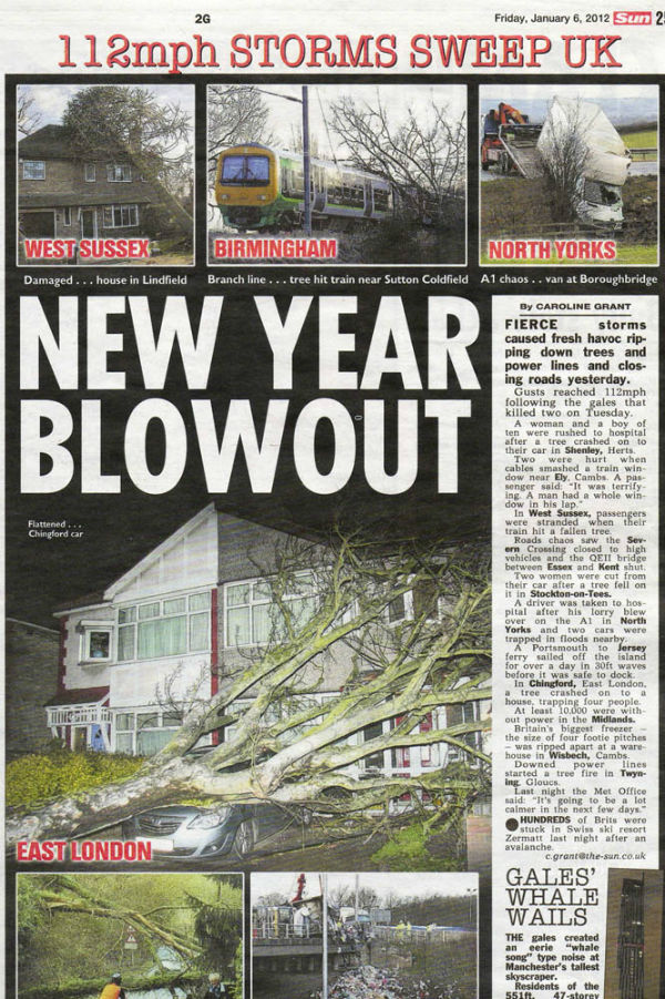 My image in The Sun - Top Left