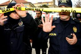 Road blocks at the USA Embassy, Ankara-Turkey