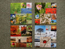 Pack of Four Seasons single sided square cards.