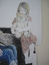 Nieves, Bonnie and Teddy - detail from drawing