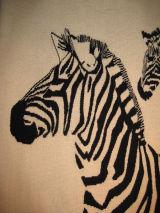 Zebras (detail) - zebra head