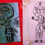 Drawing and print of 'Goddess'