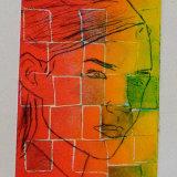 Mosaic face print
