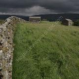 Storm over barns