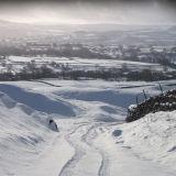 Snowy lane down to Carperby