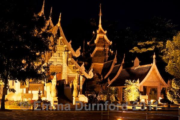 Temple buildings at Wat Chedi Luang Wora Wiharn