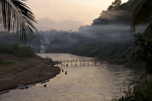 Dusk over the Nam Khan river