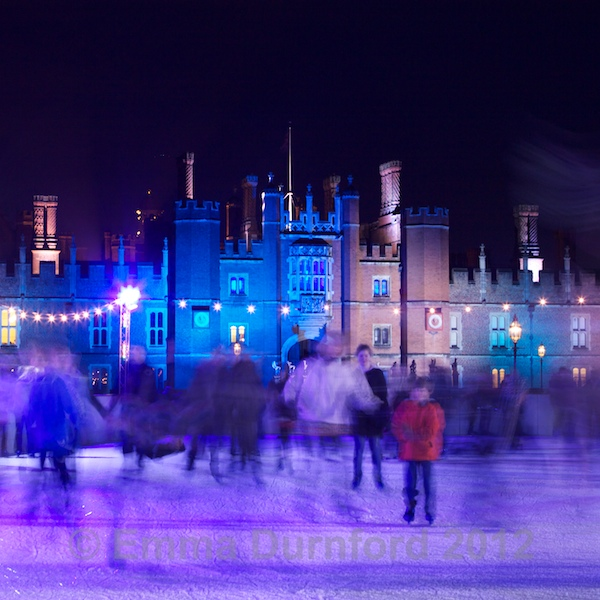 Ice Skating at Hampton Court Palace - night