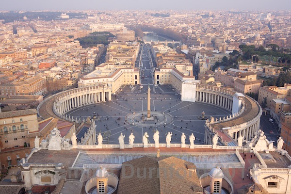 Piazza San Pietro and the city of Rome