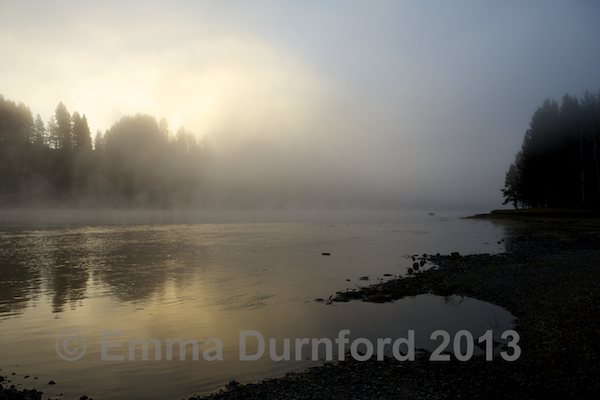 Yellowstone River at dawn