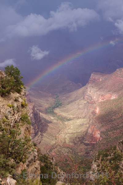Rainbow over the Bright Angel trail