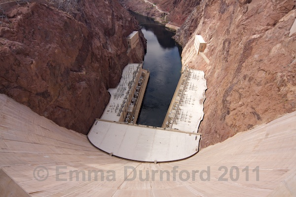 Power Plant and the Lower Coffer Dam of Hoover Dam