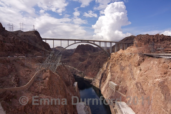Mike O'Callaghan and Pat Tillman Memorial Bridge and the Hoover Dam Power Plant