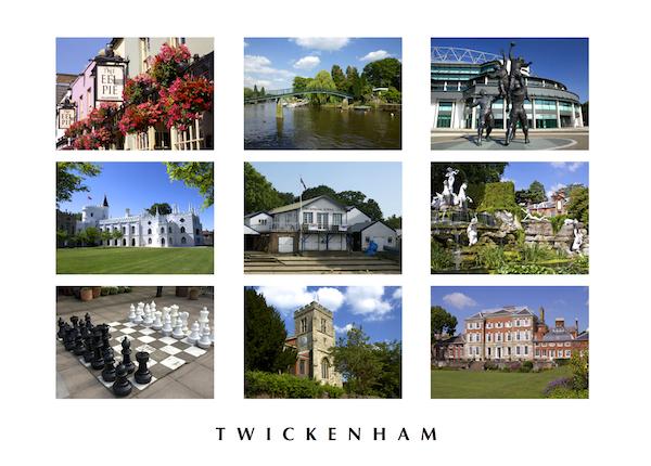 POSTCARD - Twickenham montage